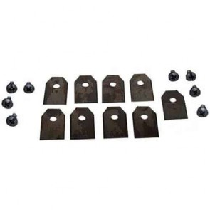 Set of 9 mower blades for robots FLYMO - GARDENA - HUSQVARNA models 1200R, R38LI, R40LI, R45LI, R50LI, R70LI, R80Li, R160, SILENO, SILENO+, 210CC, 220AC, 230ACX, 260ACX, AUTOMOWER 105/305/308/310/315/320/330X/420/430X/450X, SOLAR HYBRID. Replaces original