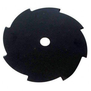 Flat brush cutter blade 8 teeth - Cutting width 255mm, central bore: 25,4mm, thick: 2,0mm