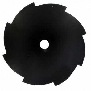 Flat brush cutter blade 8 teeth - Cutting width 255mm, central bore: 25,4mm, thick: 1,8mm