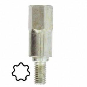 Star shaped adaptor 7 teeth - for universal gearhead 1602042 and universal hedge Trimmer head 1801000.