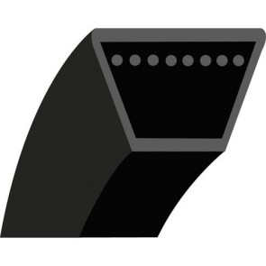 """4LK47 : V - belt for Ride on mower JOHN DEERE Model Rider 57 - Section 1/2'' (12.7 mm) - 12.7x8 mm - Outside length: 47"""" - 1193,80 mm - Original N°: M45862"""