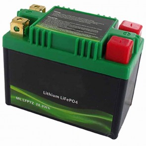 Lithium Starter Battery Lithium-Fer-Potasium (LiFePo4 or LFP) 12V 12A, 28,8Wh, replaces conventional lead/acid batteries YTZ7S, YTX7A-BS, YB9L-A2, YB9L-B, YB9A-A, YB9-B, 12N9-4B-1, 12N9-3A, 12N9-3B.