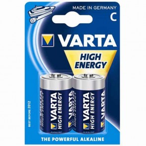 Set or 2 alcaline batteries 1,5 V VARTA - Type C