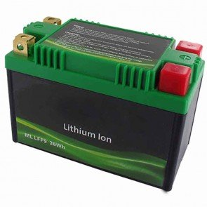 Lithium Starter Battery Lithium-Fer-Potasium (LiFePo4 or LFP) 12V 15A 36Wh, replaces conventional lead/acid batteries YTX9-BS, YTR9-BS, YTX9A-BS, YT7B-BS, YT7B-4, YT9B-BS, YT9B-4.
