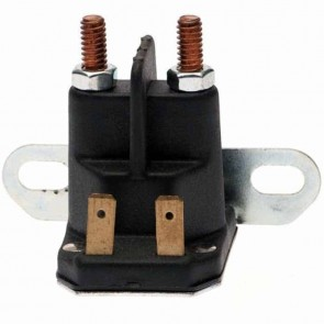 Starter relay for CASTELGARDEN and STIGA with lateral fixture with 2 cLight bulbs + 2 pins. Replaces original : 1134-2946-02, 18736111/0, 118736111/0, 1136-0065-01, 1134-3901-01