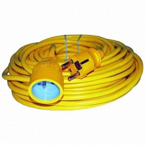 Extension cable PVC - Length: 50 m 3 × 1,5mm2
