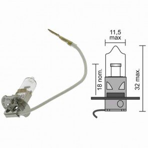 Light bulb halogen 12 V - 100 W model H3 -strictly forbidden to use in traffic