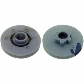 Starter pulley 6 crans for RYOBI models 265, 365 SSR, 284-3 and 264-3 - central bore: 16mm - Ø: 69mm. Replaces original : 683856