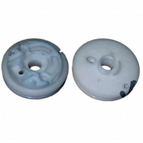 Starter pulley for SHINDAIWA models TC25, C25, TC25 and C25. Replaces original : 20000-75120