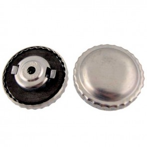Universal Gas cap in metal with aeration and bayonet Gasket Ø ext: 50mm