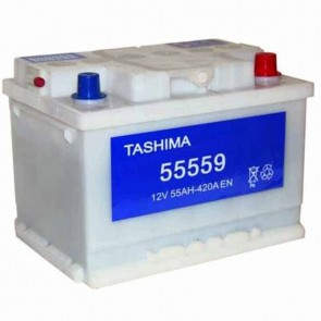 Starter Battery TASHIMA 12 V - 55 Ah + right - L: 242mm, l: 175mm, H: 175mm