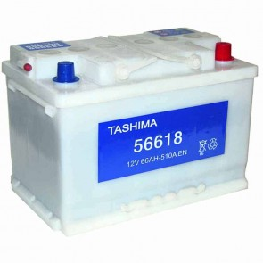 Starter Battery TASHIMA 12 V - 66 Ah + right - L: 278mm, l: 175mm, H: 190mm