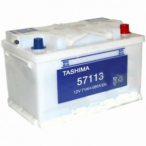 Starter Battery TASHIMA 12 V - 71 Ah + right - L: 278mm, l: 175mm, H: 175mm
