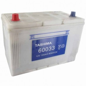 Starter Battery TASHIMA 12 V - 95 Ah + left for KUBOTA models M5700- DT- Q, M9000- DT- Q - L: 305mm, l: 176mm, H: 222mm