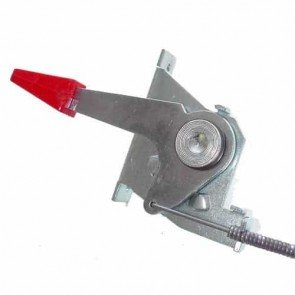 Throttle control for mowers SNAPPER with TECUMSEH engine. Replaces original: 12061 - Length of the cable: 1470mm - Length of the cable outer: 1410mm - Wire travel: 37mm.
