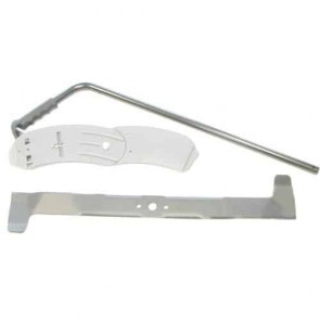 Set mulching deflector and blade for CASTELGARDEN model TC72. Replaces original: 99900037/0 and 99900036.