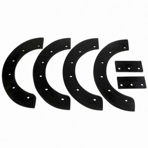 "Paddle set for snowthrower NOMA models 20"", C2030-01D and C950-52103. Replaces original: 302565 - Set of 4 pcs"