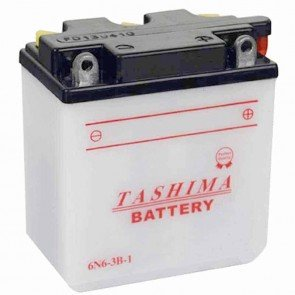 Battery 6V, 6A. L: 99, w: 57, H: 111mm, + right for motorcycles. (delivered without acid).