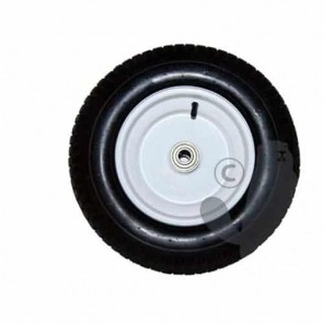 Steel wheel with tyre 16 X 6.50 X 8 - 4 PLY for trailer XBIGAL450 - Ø ext: 390mm, hub length: 108mm - bore:19mm