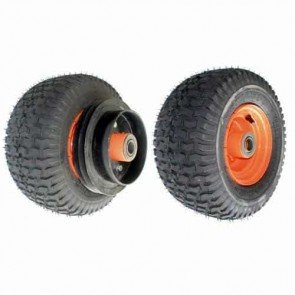 """Wheel complete with pulley and tire brake for SCAG models 36"""", 48"""", 52"""", 61"""" and 72"""". Replaces original: 48192"""