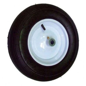 Wheel with bearing and tyre 480/400 x 8 - 4 PLY for aanhangwagen XBIPCT250 - Ø ext: 400mm, hub length: 77mm - bore: 19,05mm