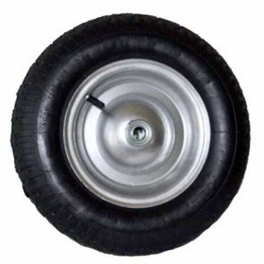Wheel with bearing and tyre 480 / 400 x 8 - 2 PLY for trailer XBILDT1002 - Ø ext: 385mm, hub length: 76,60mm - bore: 19,05mm. Replaces original: PP4568A