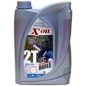 Mineral 2-stroke oil X'OIL. Contents 2 liter