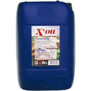 Saw chain oil X'OIL. Contents 25 liter