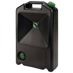 Plastic oil drain sump - 7L - Combination of oil recipient and portable jerrycan - Dimensions 500 X 300 X 130mm.