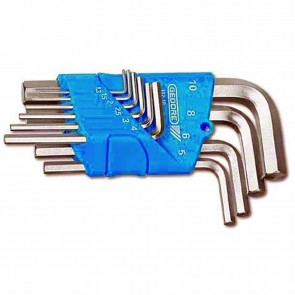 Set male wrenches - metric - 1,3 - 1,5 - 2 - 2,5 - 3 - 4 - 5 - 6 - 8 - 10