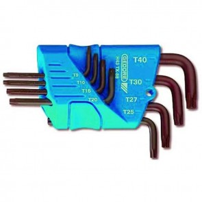 Set male TORX wrenches T10 - T15 - T20 - T25 - T27 - T30 - T40 - T45