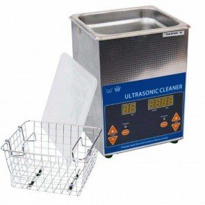 Ultrasonic cleaner 220V with digital screen, ideal for cleaning carburetors and other engine parts