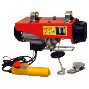 Electric hoist 230 V - 980 W. Lift cap. : 200 / 400 kg. Lift height : 12 / 6 m. Lift speed : 10 / 5 m/min