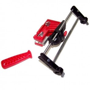 Manual chain sharpener, semi-professional. Fitted directly onto the guidebar. File not included