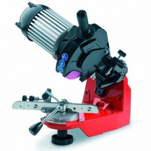 TECOMEC chain sharpener Pro COMPACT. Manaul chain vice. Comes with 3 grinding stones Ø 145mm. Thickness : 3 - 4,5 & 7 mm