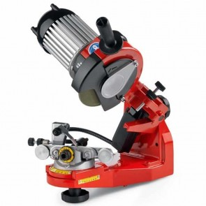 TECOMEC chain sharpener Pro Super Jolly. Automatic hydraulic chain vice. Comes with 3 grinding stones Ø 145mm. Thickness : 3 - 4,5 & 7 mm - Illuminated sharpening zone