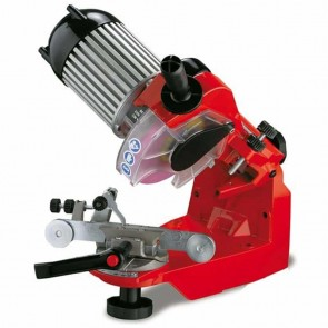 TECOMEC chain sharpener Pro Jolly Star. Vice with auto-centring for a precise chain sharpening. Comes with 3 grinding stones Ø 145mm. Thickness : 3 - 4,5 & 7 mm - Illuminated sharpening zone