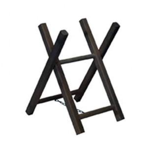 Sawhorse. 2 trestles wood. L: 63 cm - w: 40 cm. Weight : 3 kg