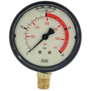 Glycerine manometer. Pressure 0/40 bar. Ø 1/4''