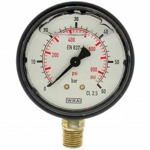 Glycerine manometer. Pressure 0/60 bar. Ø 1/4''