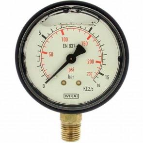 Glycerine manometer. Pressure 0/16 bar. Ø 1/4''