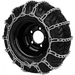 Set of non-skid chains - Tire dimensions: 22 x 1100 - 8 • 22 x 1100 - 10 • 23 x 1000 - 12 • 23 x 1050 - 12 • 24 x 950 - 12