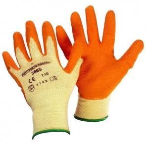 Pair rosebush gloves, Size 10 (L), latex, Reinforced thumb and index. Standards CE EN420 and EN388 - 4143.
