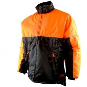 forestry jacket - Water repellant, reflective collar, polar collar, 2 zip pockets, elastic waist -  Size L ( 54/56 )