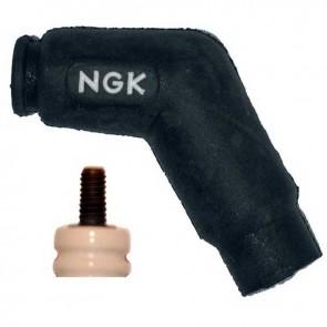 Spark plug cap NGK 120° model VD05FMH. Resistance: 5KOhm for spark plugs with thread.