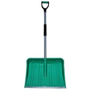 Snowshovel in PP 48 cm - Bi-material comfort grip - Aluminum rod - Anti wear band - Total length : 130 cm - Dimensions blade : 485 x 360 mm.
