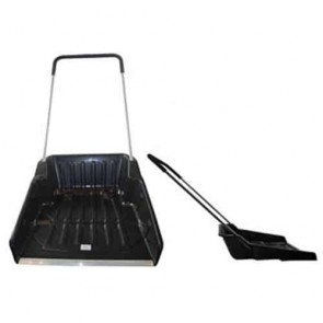 Resin snowshovel - Metal tube with epoxy - Cover Ø : 19 mm - Resin blade with metal anti wear band - Color black - Total height: 143 cm - Dimensions blade: 605 x 710 mm