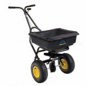 """Push spreader pro, 36 kg capacity, Powder coated frame, poly hopper with cover, Spreading width 1,2 - 4,0 m, Metal gears with lifetime warranty, 13"""" x 5"""" (330 x 127 mm)"""