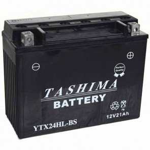 Battery 12V, 21A. L: 205, w: 87, H:162mm, + right for motorcycles, snowscooters (supplied with acid).