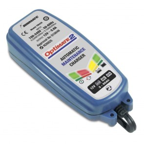 Battery charger OPTIMATE 2, for 12 V batteries - Amp: 3 - 96 ah - Loading charge: 0,8 A - Safe long term maintenance and charge of batteries.